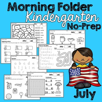 Kindergarten Morning Work (No Prep) July