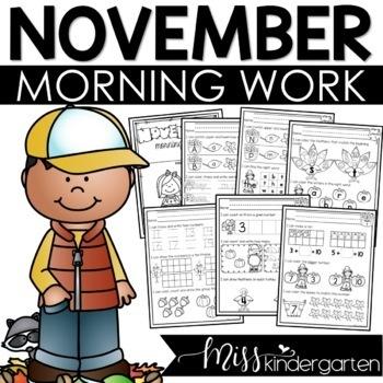 November Morning Work for Kindergarten
