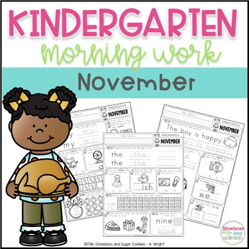 Kindergarten Morning Work - November