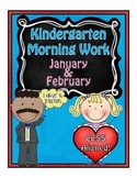 Kindergarten Morning Work ~ January & February CCSS Aligned