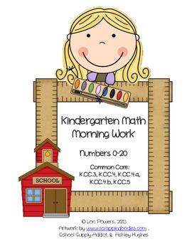 Kindergarten Morning Work - Numbers 0-20