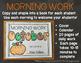 Kindergarten Morning Work {October}