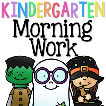 Kindergarten Morning Work: October