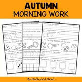 Morning Work - Fall Kindergarten Math and Literacy