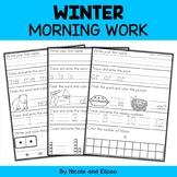 Winter Kindergarten Morning Work