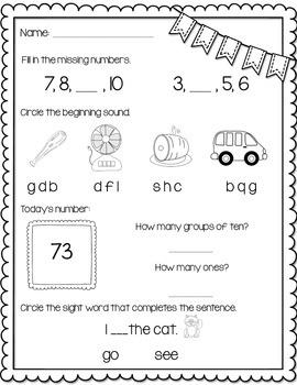 Kindergarten Morning Work Part 1