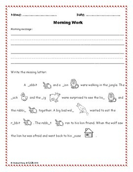 Kindergarten Morning Work Part 2 December