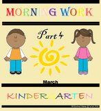 Kindergarten Morning Work Part 4 March