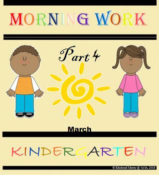 Kindergarten Morning Work Part 4 March