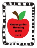 Kindergarten Morning Work - Part II