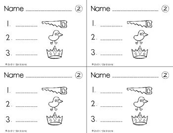 Kindergarten Morning Work {Phonemic Awareness - Ending Sound Practice}