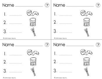 Kindergarten Morning Work {Phonemic Awareness - Middle Sound Practice}