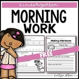 Kindergarten Morning Work Practice with Letters and Numbers FREEBIE