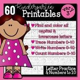 Kindergarten Morning Work | Numbers to Ten & Letters | NO PREP