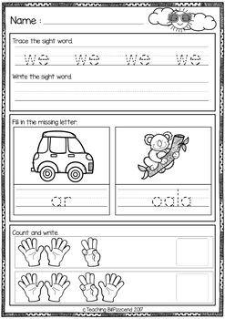 Kindergarten Morning Work SET 2