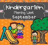 Kindergarten Morning Work (September)