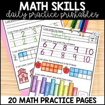 Kindergarten Morning Work {September}