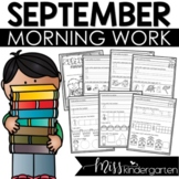 September Morning Work for Kindergarten