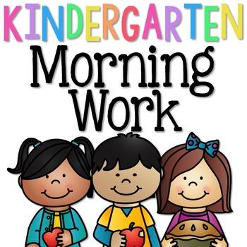 Kindergarten Morning Work: September