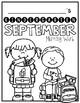 Kindergarten Morning Work- September