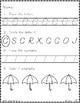 Kindergarten Morning Work - September {Alternative Font Style}