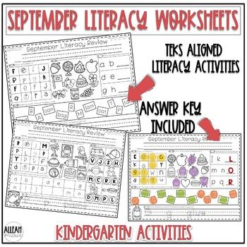 Kindergarten Morning Work {September ELA}