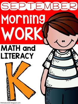 September Kindergarten Morning Work Math & Literacy