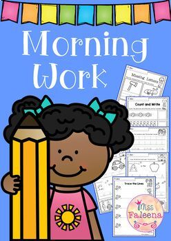 Kindergarten Morning Work (Set 1)