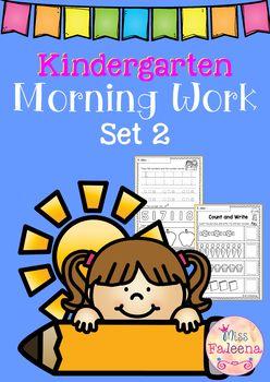 Kindergarten Morning Work (Set 2)