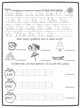 Kindergarten Morning Work Set 2 Preview/Freebie