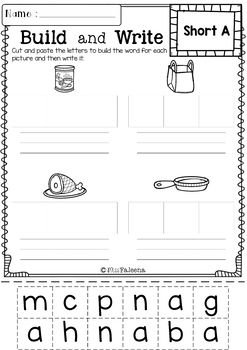 Kindergarten Morning Work (Set 3)