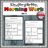 Kindergarten Morning Work - Spiral Review or Homework - Set 3