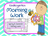 Kindergarten Morning Work: Spring and Summer