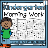 Kindergarten Morning Work - Distance Learning Beginning