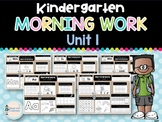 Kindergarten Morning Work UNIT 1
