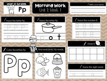 Kindergarten Morning Work UNIT 2