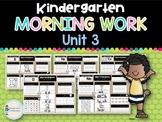 Kindergarten Morning Work UNIT 3