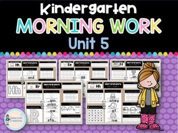 Kindergarten Morning Work UNIT 5