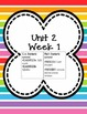 Kindergarten Morning Work Unit 2 **FREEBIE PREVIEW**