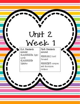 Kindergarten Morning Work Unit 2 (SECOND nine weeks) **100% Common Core