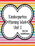 Kindergarten Morning Work Unit 2 (SECOND nine weeks) **100% Common Core