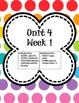 Kindergarten Morning Work Unit 4 (fourth ninth weeks) **100% Common Core