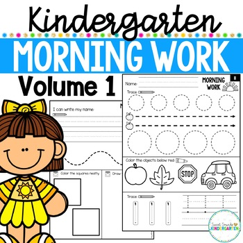 First Day Of School Morning Work Worksheets & Teaching