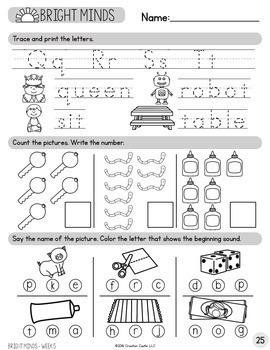 Kindergarten Morning Work - Weeks 1-9