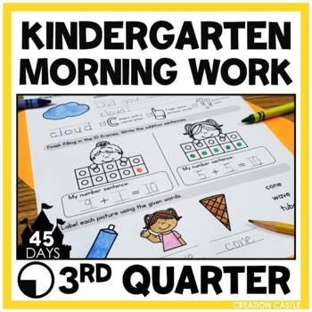 Kindergarten Morning Work - Weeks 19-27