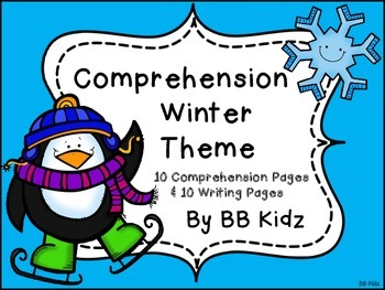 Kindergarten Morning Work - {Winter Themed Comprehension / Writing Work Jobs}