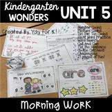 Kindergarten Morning Work:  Wonders Unit 5