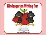 Kindergarten Morning Work Writing the Numbers 0-10  Back-to-School