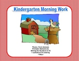 Kindergarten Morning Work Writing the Numbers 0-10  Farm Theme
