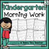 Kindergarten Morning Work {continued} - Daily Language Arts and Math Review